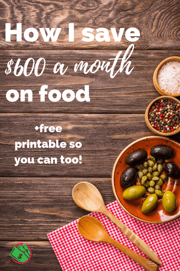 How I save $600 a month on food. These simple tips to save on groceries will help you gain control of your food budget. It will also help make weeknight dinners easier and less stressful. #food #save #savemoney #groceries