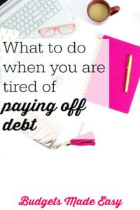 burned out paying off debt