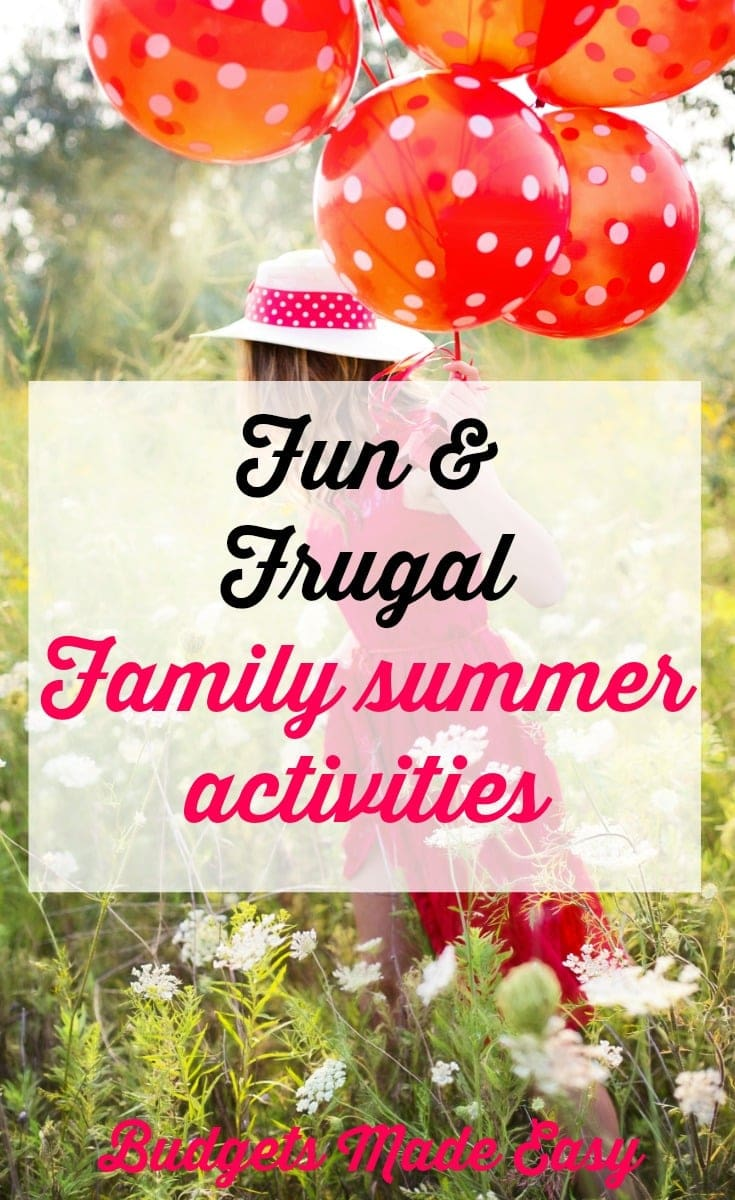 fun and frugal family summer activities, summer family fun