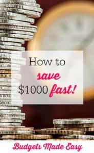 save $1000 fast