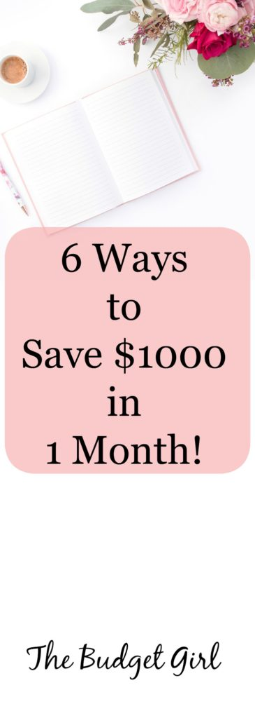 save money tips, save 1000 in 1 month