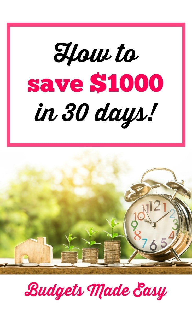 how to save $1000 in 30 days by following these simple saving money tips
