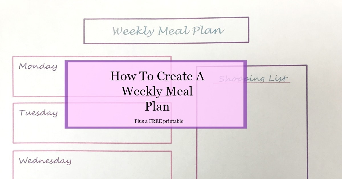 How To Create A Weekly Meal Plan  The Budget Girl