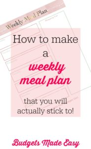 how to create a weekly meal plan you will actually stick to