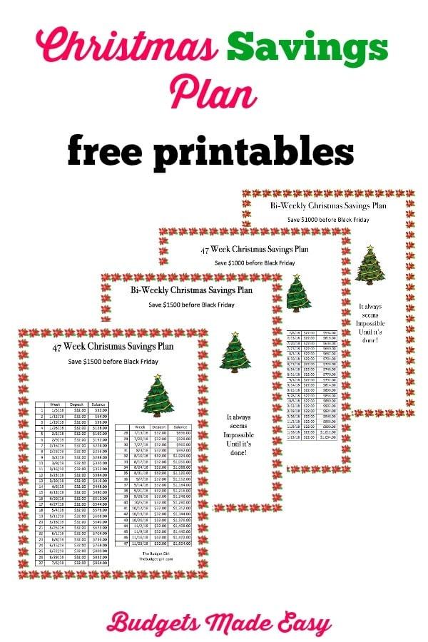 christmas saving plan