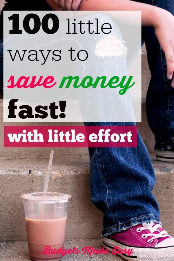 100 ways to save money fast