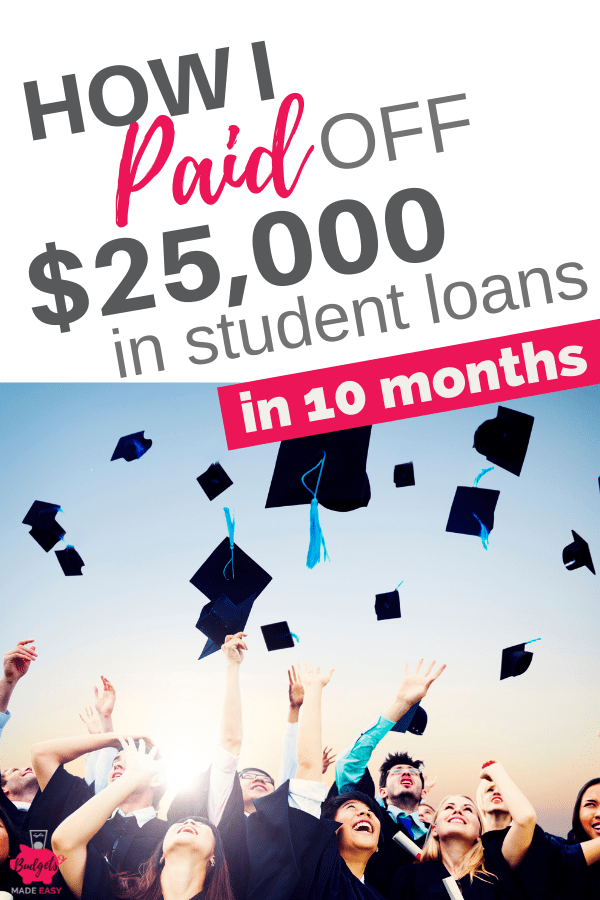 How we paid off our student loans fast! Plus tips to pay off your debt early. Grab your free printable debt pay off checklist. #studentloans #debtsnowball #daveramsey