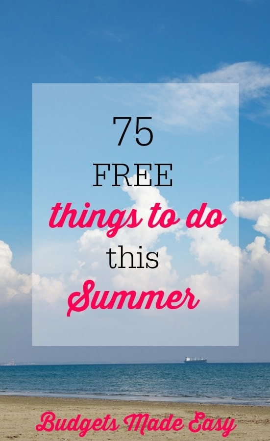 75 free things to do this summer