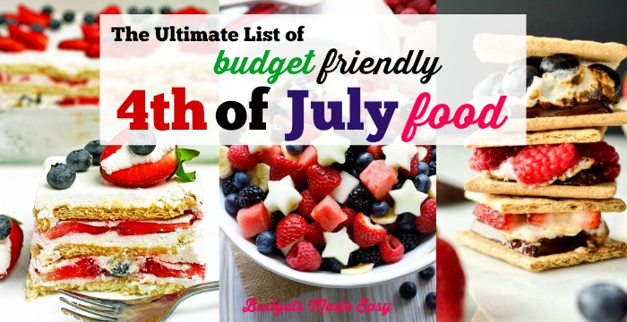 The Ultimate List of budget friendly 4th of July food