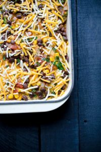 easy Mexican tortilla casserole