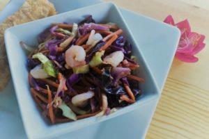 fried shrimp cabbage