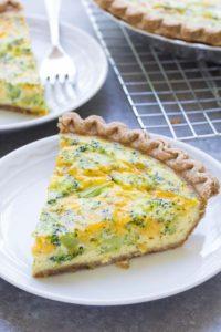 easy broccoli cheese quiche