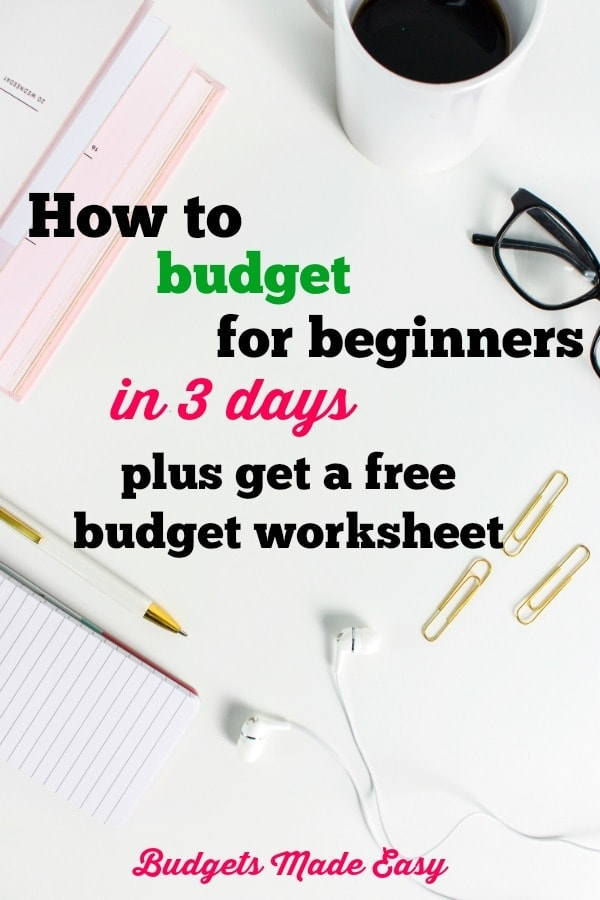 how to budget for beginners in 3 days
