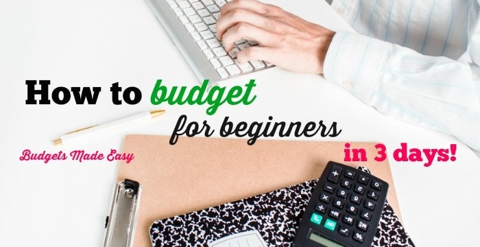 How to Budget for beginners in 3 days!