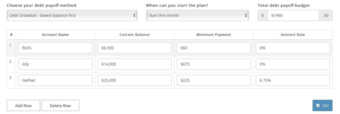 undebtit debt snowball calculator
