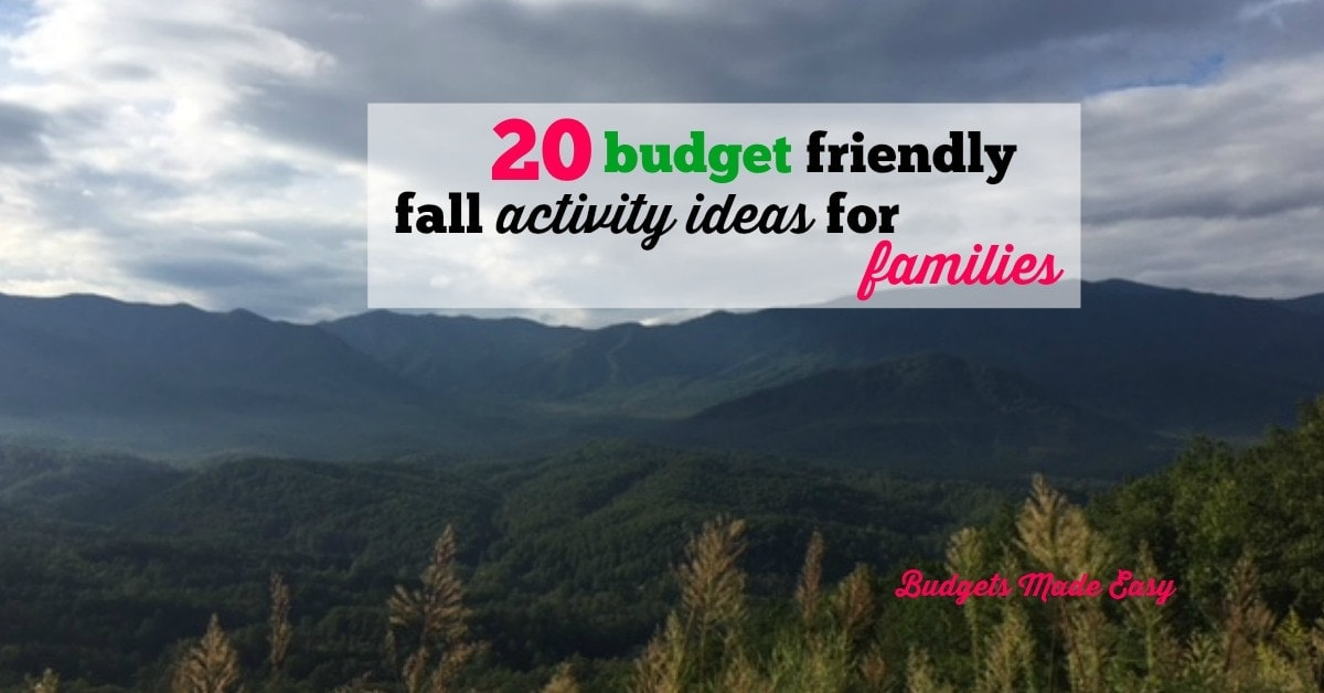 20 Budget Friendly Fall Activity Ideas for Families