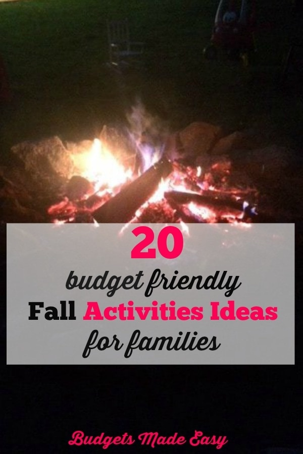 budget friendly fall activity ideas for families