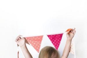 kid banner craft pink