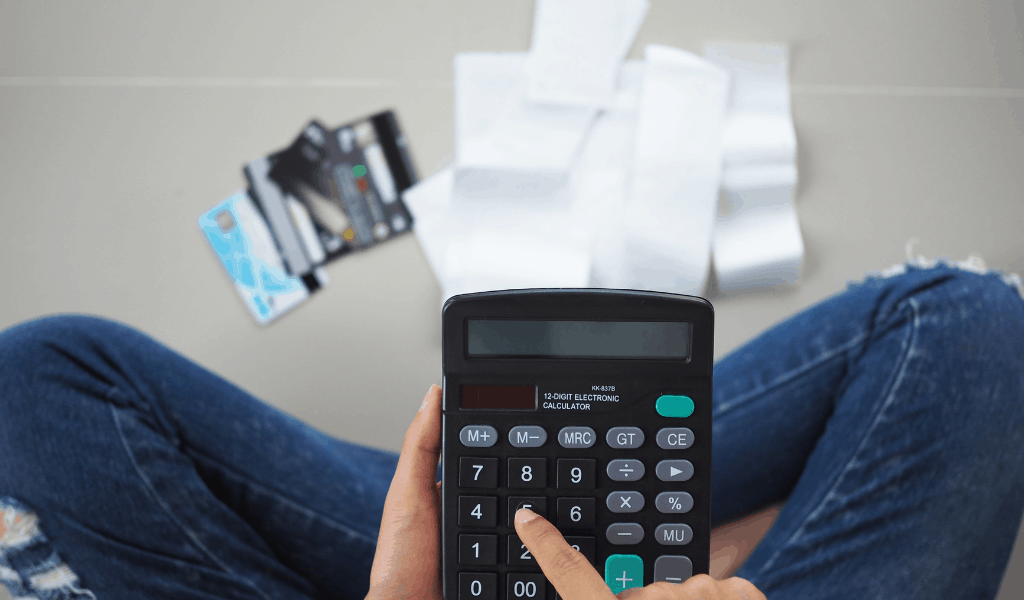 calculator and credit cards