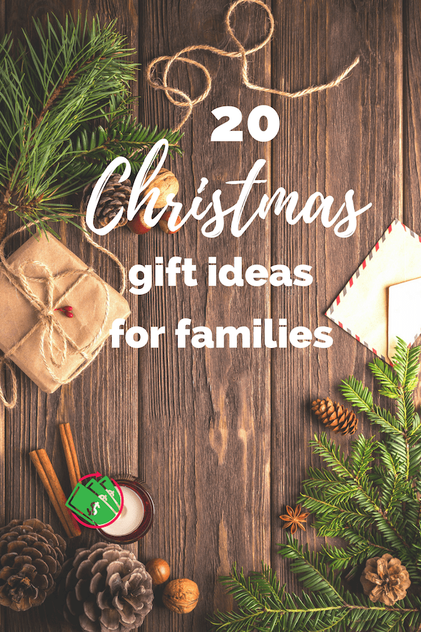 20 family gift ideas for the whole family. Even the kids will enjoy these. They are fun and personalized and can be for a whole group even on a budget. Theses Christmas gift ideas can be fun, creative, and DIY! #crhhistmas #gifts #family #DIY #budget