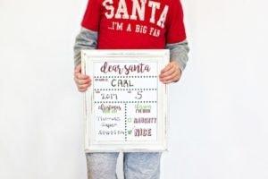 christmas board and wish list