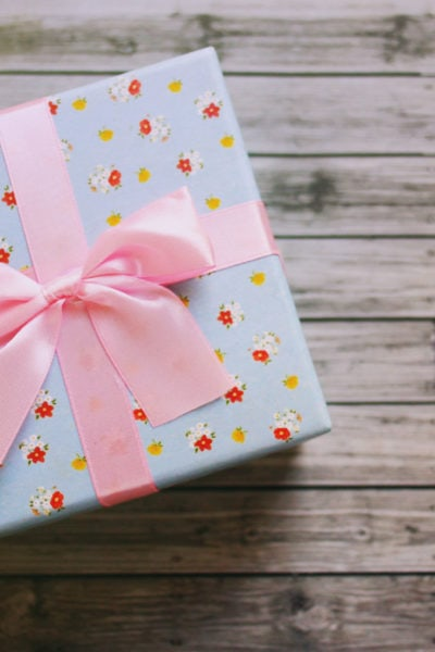 Cute Gift Box With Retro Filter Effect