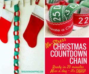 free christmas countdown activity