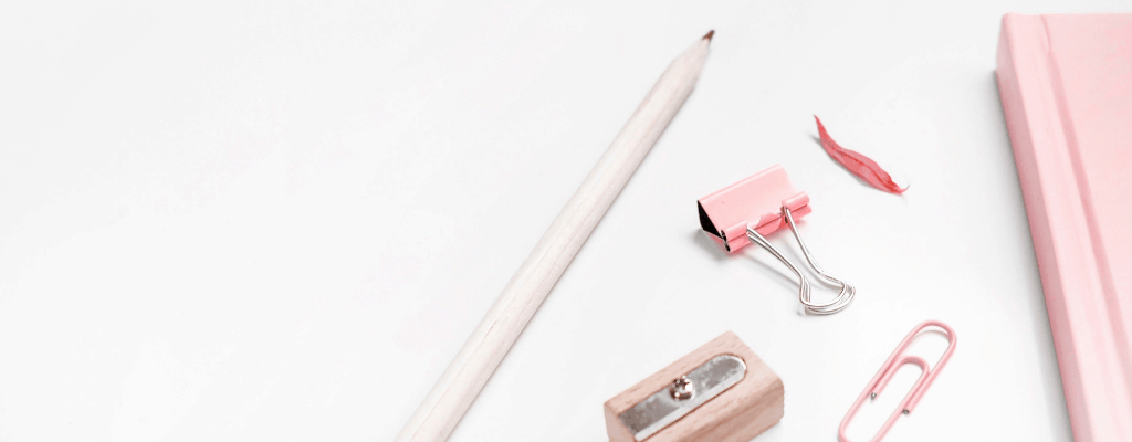 pink binder clips