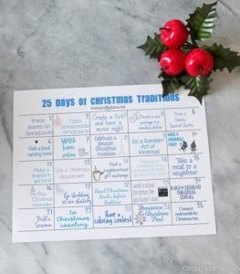 free christmas printable family activity