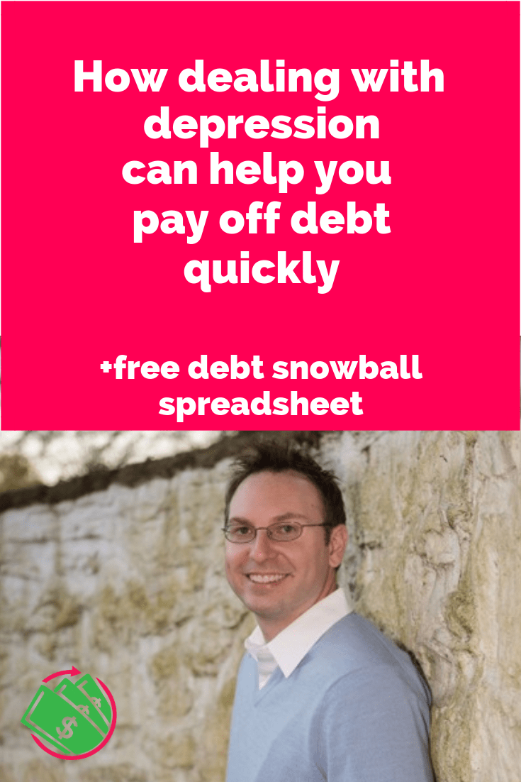 How to pay off debt quickly including credit cards and student loans. Plus dealing with your depression can help pay off debt and stop spending money. | tips | motivation | Dave Ramsey | #debt #creditcards