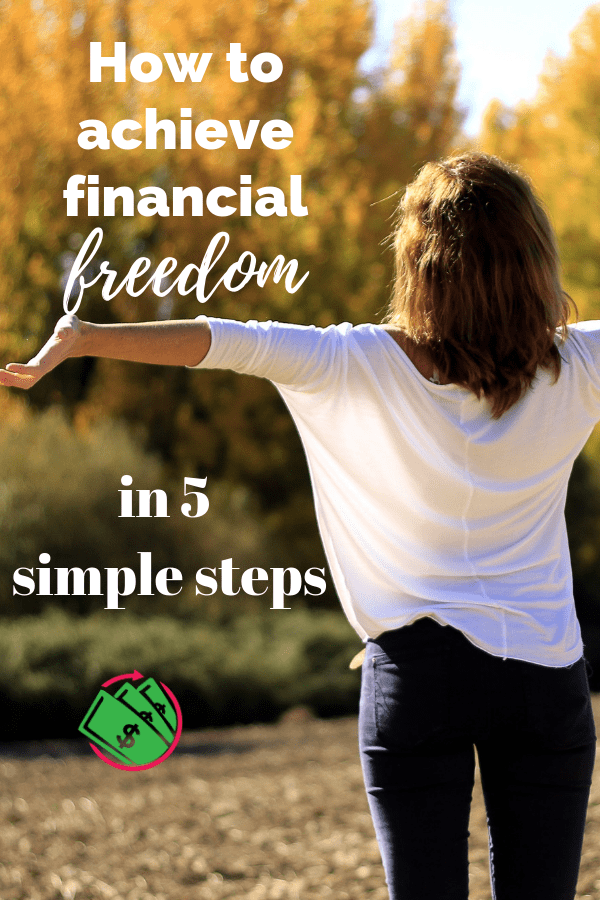 achieving financial freedom in 5 easy steps. These personal finance tips follow Dave Ramsey and his lessons to achieving financial peace. This advice will help you conquer debt, save for retirement even in your 20s, 30s, and 40s. You can achieve financial success by starting today! #finance #money #daveramsey