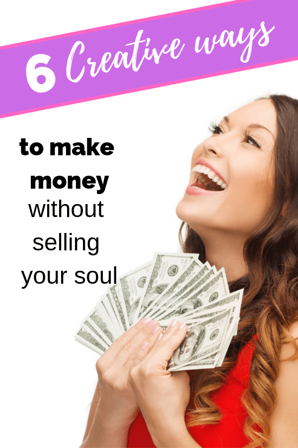 6 creative ways to earn money without selling to your friends. Earn money from home and fast online with these simple ideas. This can even be passive income and help you pay off debt! #money