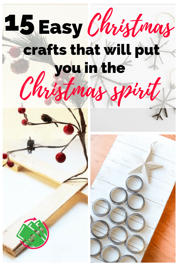These simple and easy DIY Christmas crafts are great for kids or even to sell! There are snowmen and reindeer and even a Charlie Brown Christmas tree. #christmas #crafts