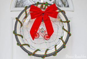 bicycle christmas wreath