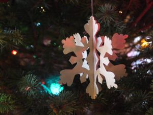 DIY 3D paper ornament