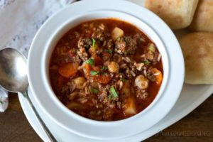 vegetable and beef soup