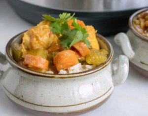 curried chicken and vegetables instant pot