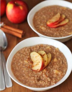 Apple Spice oatmeal instant pot recipe