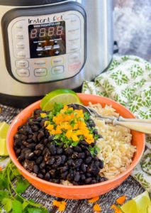 instant pot seasoned black beans