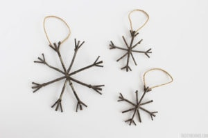 homemade twig ornaments