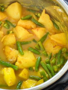 vegan potato curry instant pot