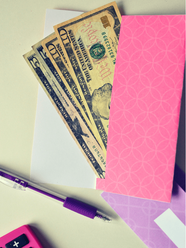 pink cash envelope