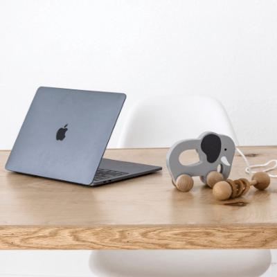 desk with elephant