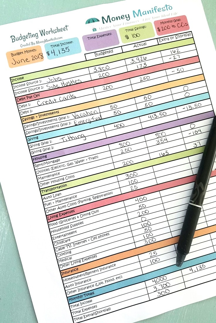It's just an image of Clean Printable Budget Forms