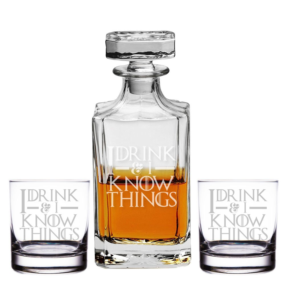 Game of Thrones decanter and shot glasses set