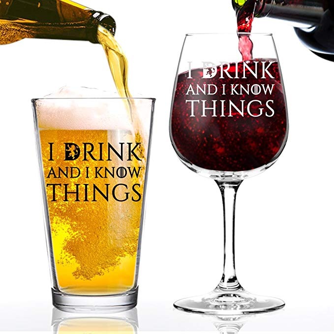 Game of Thrones drinking glasses