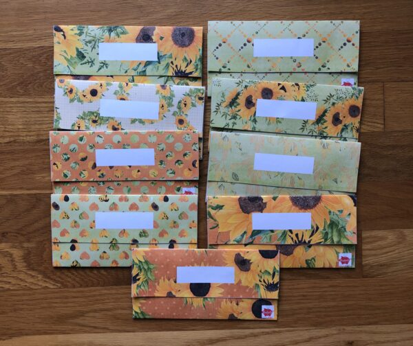 sunflower cash envelopes