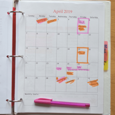 How to Use A Budget Calendar
