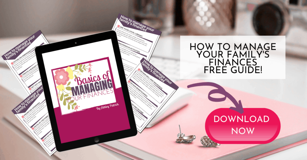 how to manage your family's finances free printable guide