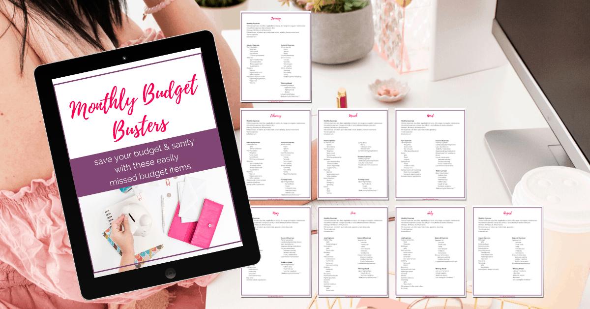 budget item list
